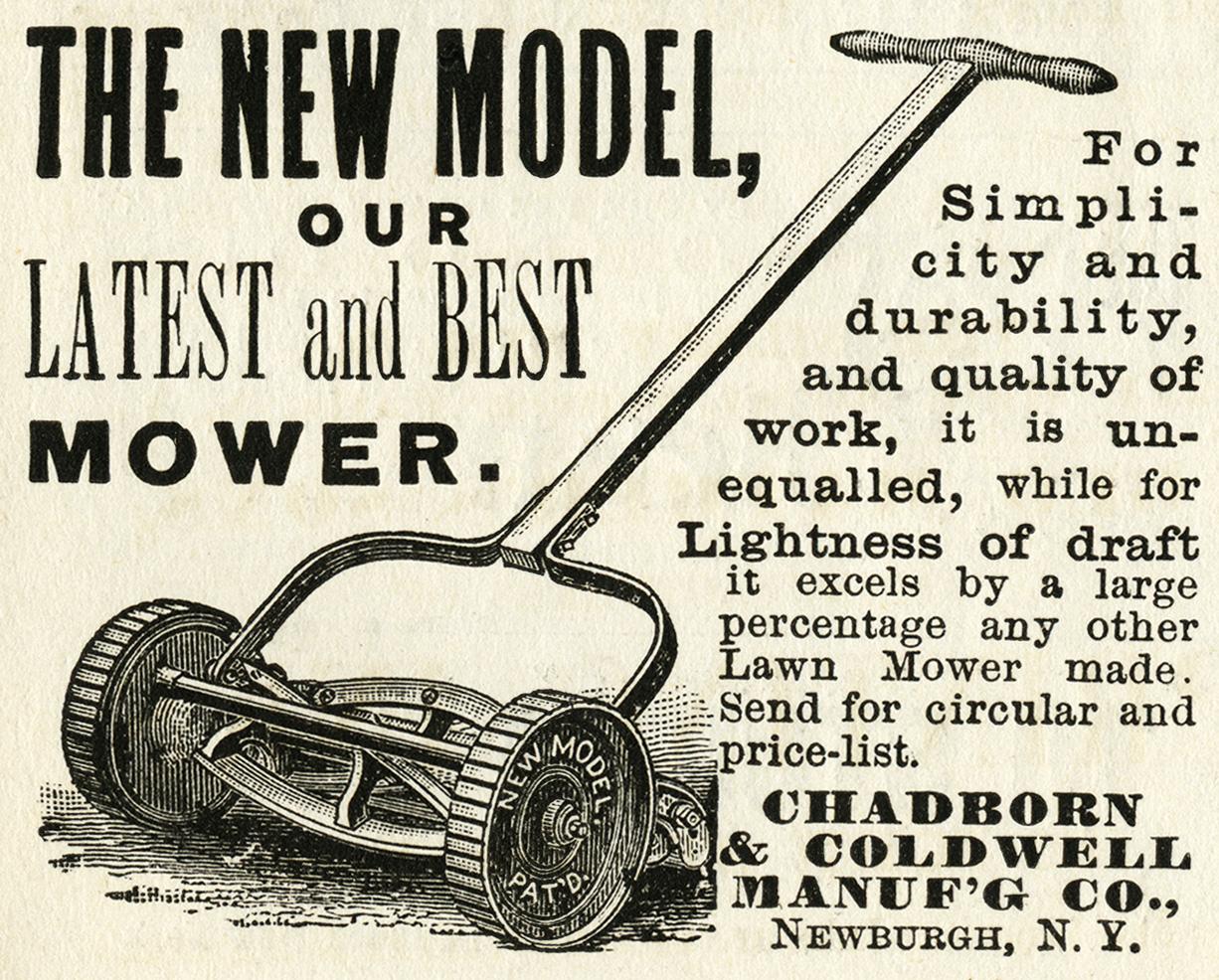 vintage garden lawnmower ad 01