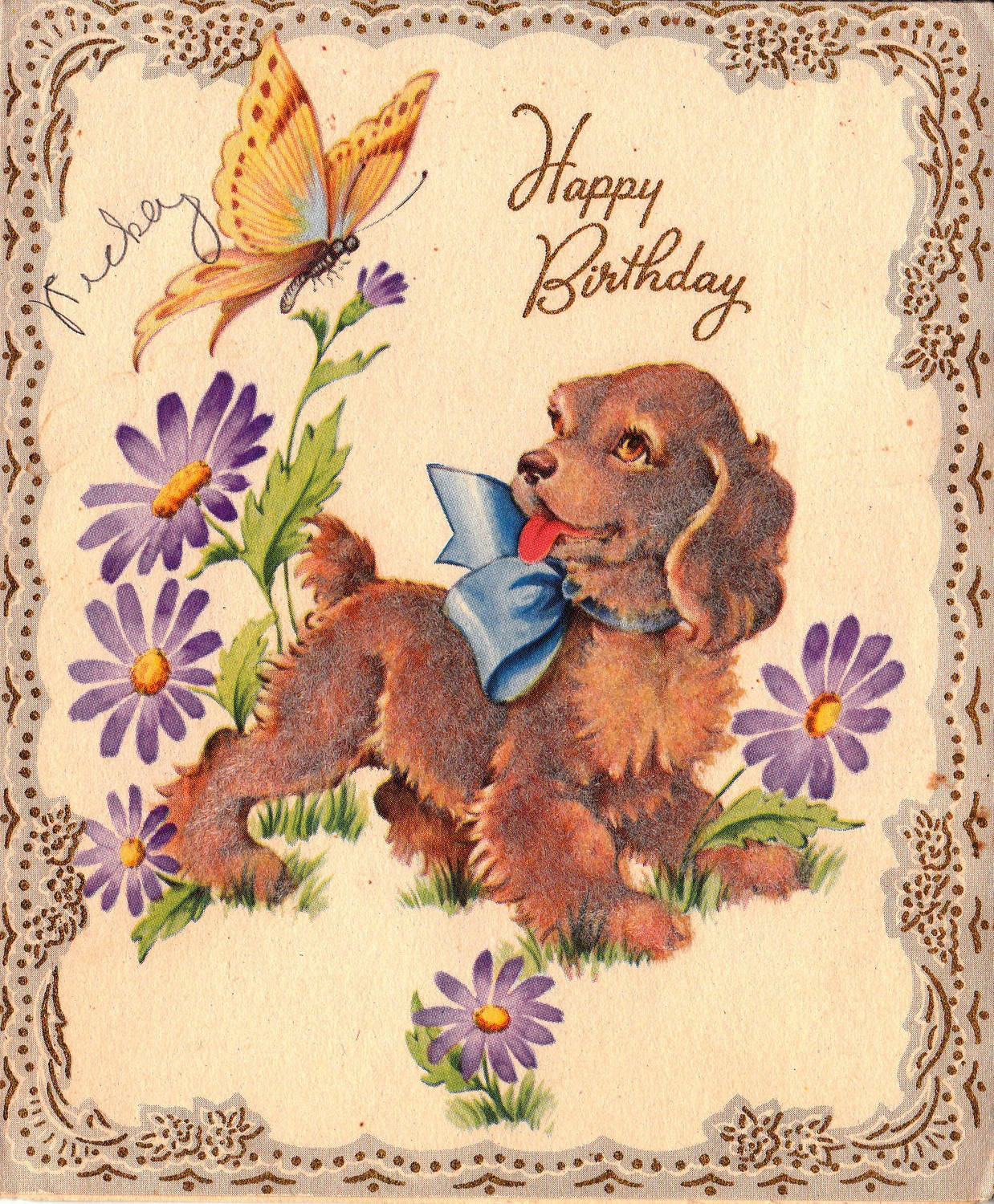 Free vintage puppy birthday card free vintage illustrations free vintage illustrations kristyandbryce Choice Image