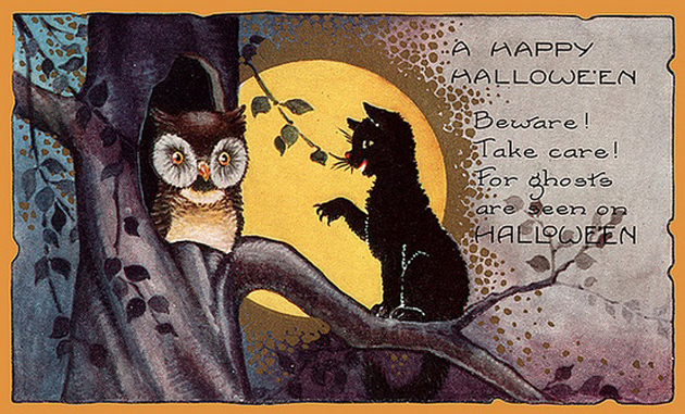 FREE Public Domain Vintage Halloween Illustrations Craft Ideas