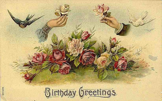Vintage Flowers Birthday Cards ~ More free vintage victorian birthday illustrations for diy cards