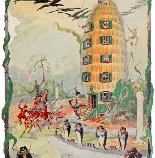 public domain vintage color book 14 illustration emerald city of oz