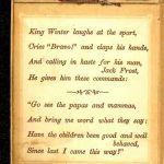 free vintage book and illustrations. King Winter Christmas 1859.