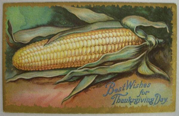 public domain color vintage thanksgiving greeting 3