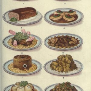 public domain vintage color illustrations of food and meat veal dishes