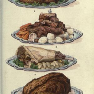 public domain vintage color illustrations of food meat and roasts