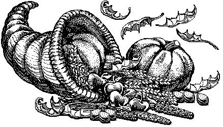 Vintage Thanksgiving Cornucopia Illustration In The Public Domain