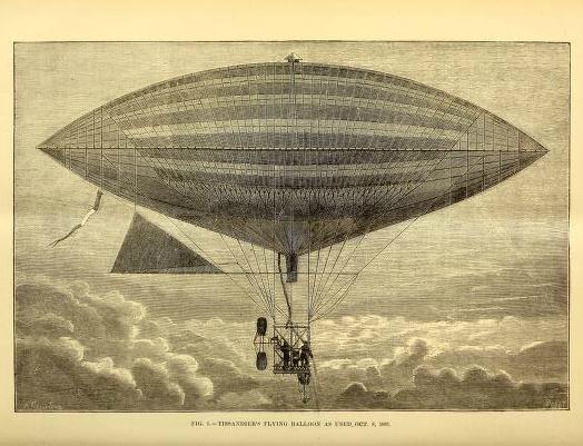 vintage engineering illustration of hot air balloon1