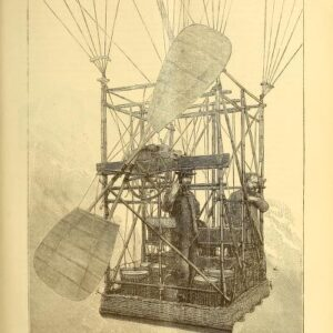 vintage scientific engineering illustration of inside hot air balloon1