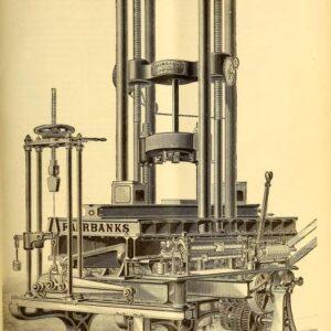 vintage scientific illustration of antique testing machine1