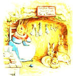 free vintage illustration of beatrix potter benjamin bunny 1