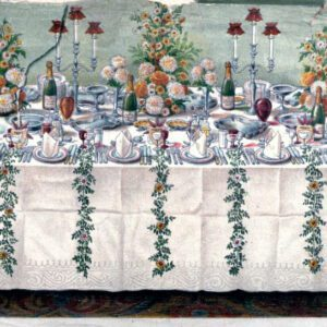 free vintage illustration of elegant table setting from beeton cookery
