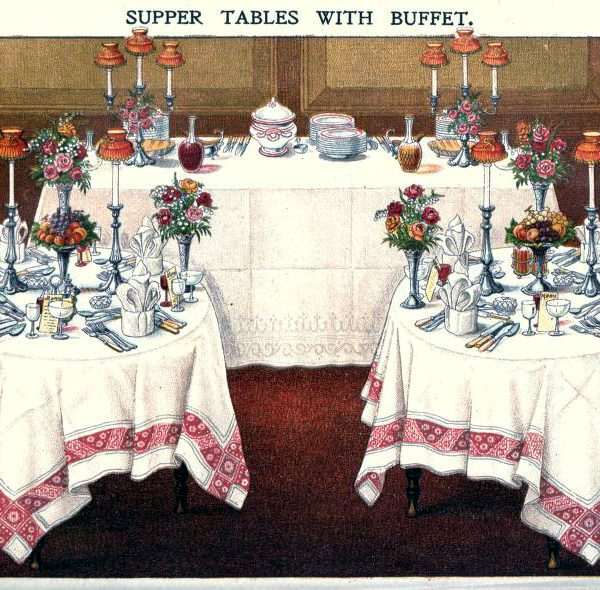 free vintage illustration of elegant table setting from beeton cookery image 4