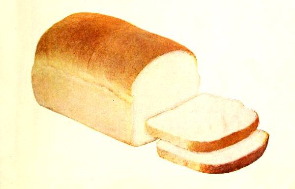 vintage bread loaf and slices illustrations