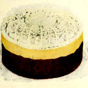 vintage fancy layer cake illustration
