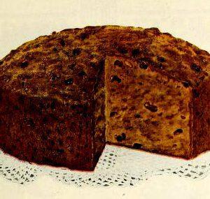 vintage sponge cake illustration