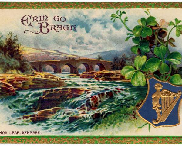 antique st patricks day postcard1