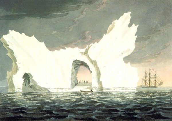 A FREE 19th-century iceberg illustration in the public domain