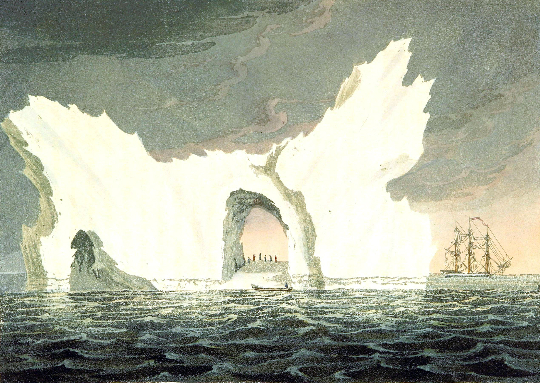 19th century iceberg illustrations in the public domain