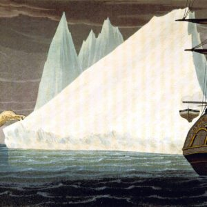 19th century iceberg polar bear ship public domain