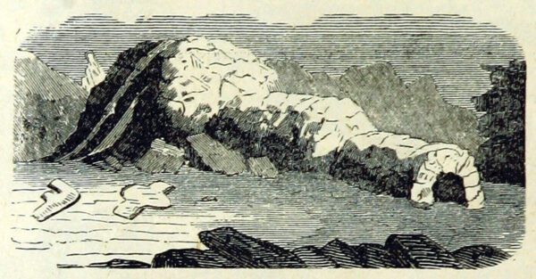 Igloo and iceberg illustrations from the 19th century - public domain