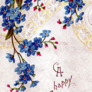 public domain vintage birthday cards blue cornflowers