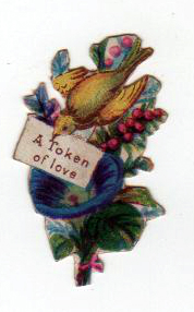 19th century valentines day pictures bird token of love