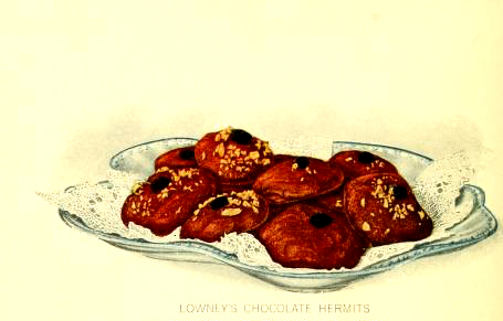 chocolate bites dessert illustrations early 20th century public domain