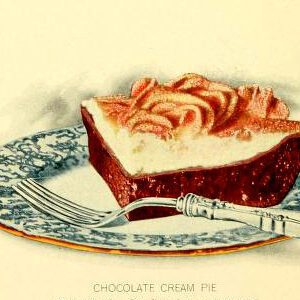 free vintage dessert illustrations of chocolate cream pie