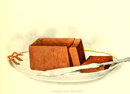 chocolate mousse dessert illustration early 20th century public domain