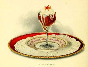 free vintage chocolate parfait dessert illustrations