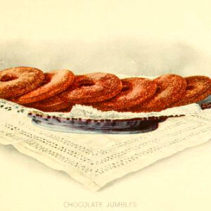 chocolate ring cookies dessert illustrations early 20th century public domain