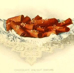 chocolate wafers dessert illustrations early 20th century public domain