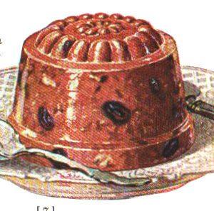 vintage jello cookbook plum pudding