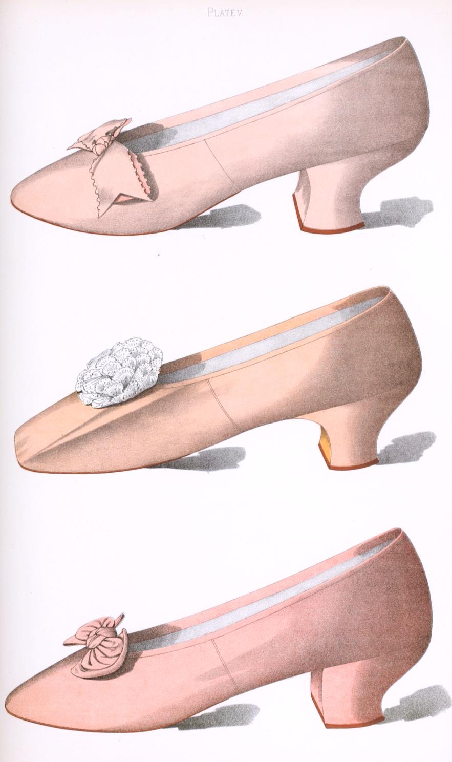 Pink shoes illustration public domain