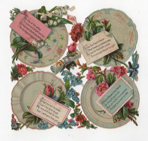 plates and flowers die cut