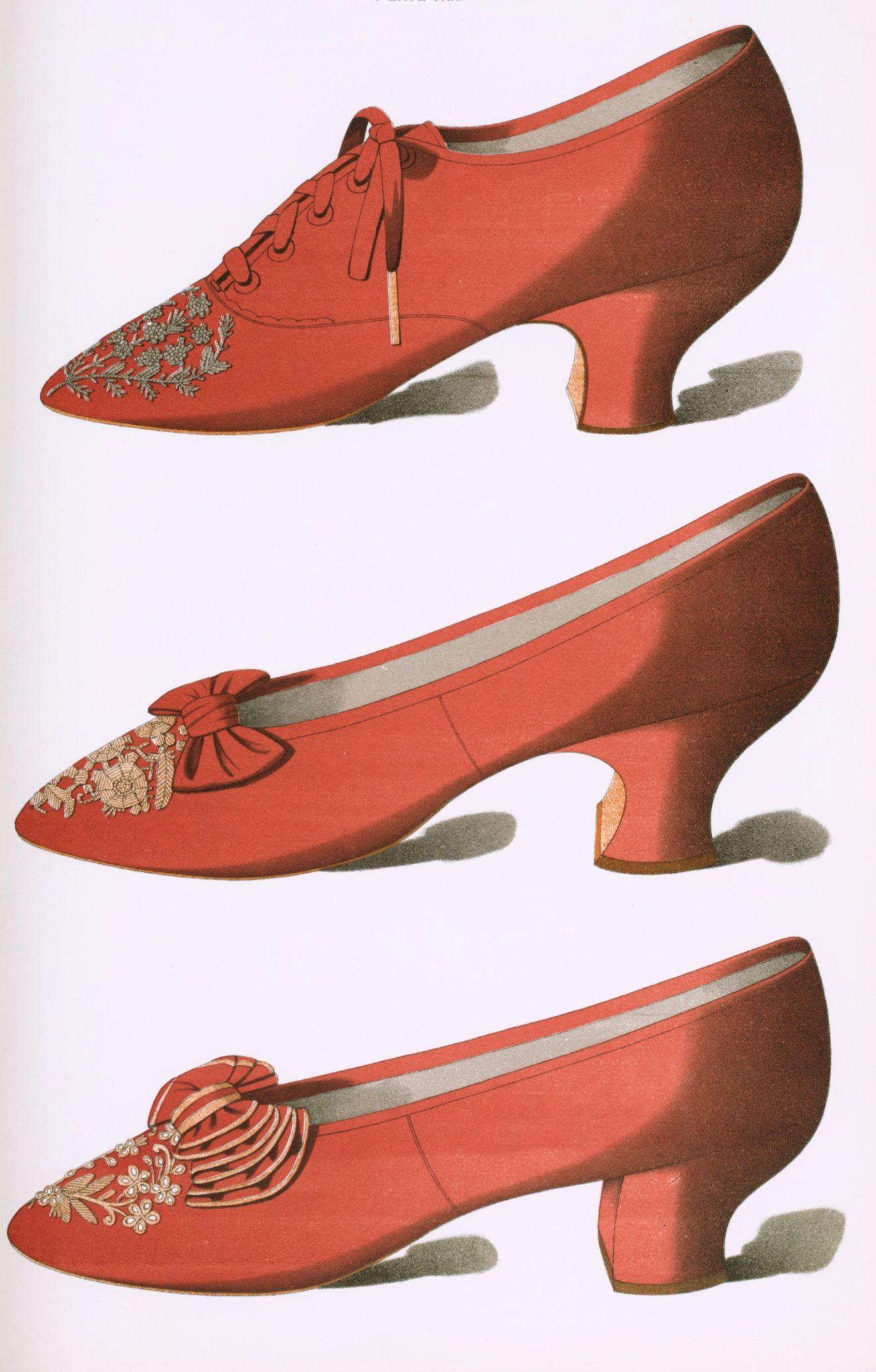Public domain red shoes illustration