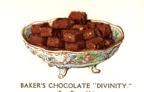 vintage bakers chocolate squares