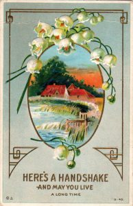 vintage birthday card countryside public domain