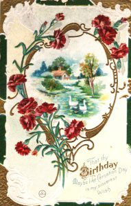 vintage birthday card image 1910 public domain