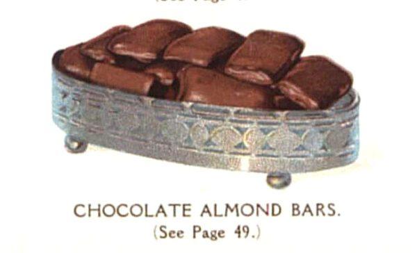 vintage chocolate almond bars