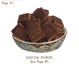 vintage chocolate bar squares