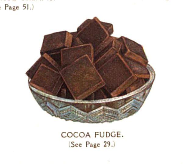 vintage chocolate bar squares