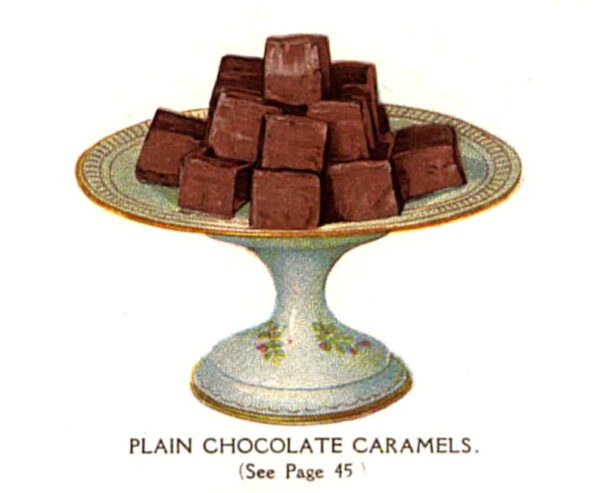 vintage chocolate caramel chews