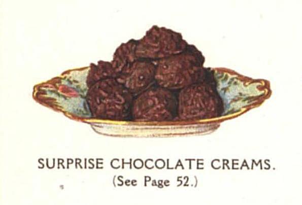 vintage chocolate clusters