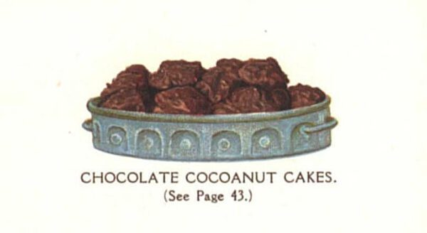 vintage chocolate coconut clusters