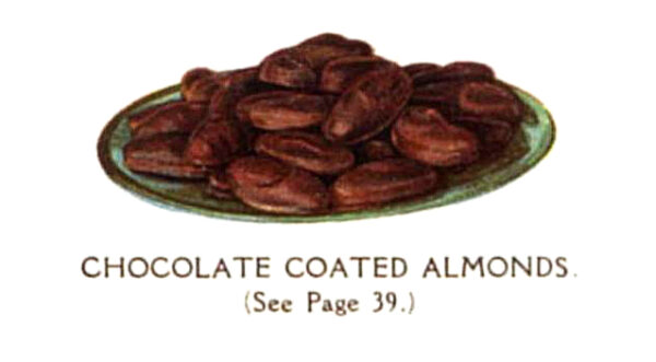 vintage chocolate covered almonds