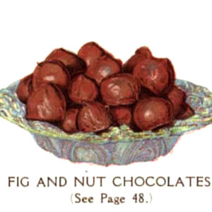 vintage chocolate covered figs