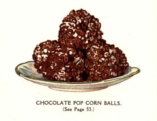 vintage chocolate covered popcorn