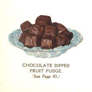 vintage chocolate fruit candy fudge