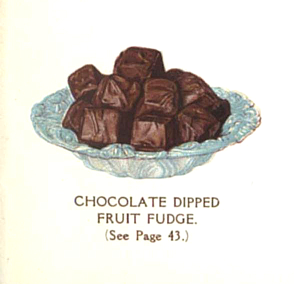 vintage chocolate fruit candy fudge